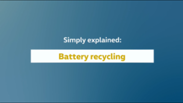 Simply explained: battery recycling pilot plant at the Volkswagen Group Components site in Salzgitter